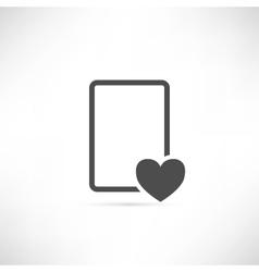 Wish List Icon Empty vector image vector image