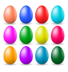 a set of painted easter eggs vector image vector image