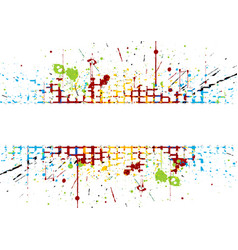abstract bright colored striped splatter colored vector image vector image