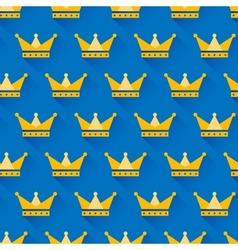 crown seamless pattern vector image vector image