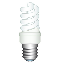 Energy saving lamp vector image vector image