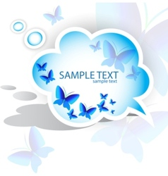 paper speech bubble butterfly design vector image vector image