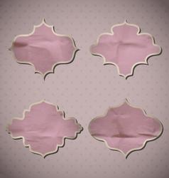 Pink Crumpled Frames vector image