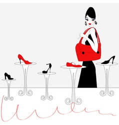 shoe shopping background vector image vector image