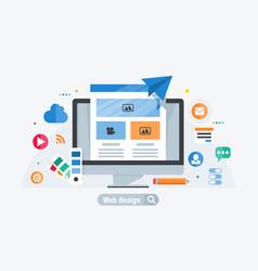 web design build vector image vector image