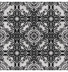 Monochrome ornament Seamless stylized ornamental vector image