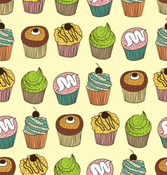 muffin seamless vector image vector image