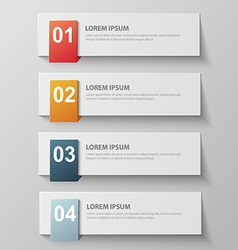 paper infographic4 vector image vector image