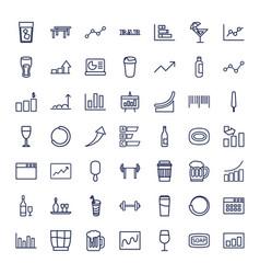 49 bar icons vector