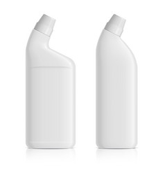 a set of realistic white plastic bottles for vector image
