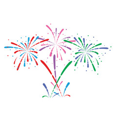 abstract anniversary bursting fireworks vector image