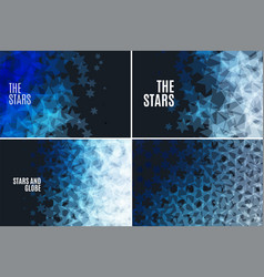 Abstract design elements with stars and vector
