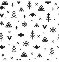 abstract geometric print hand drawn ethnic vector image vector image