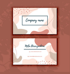 Abstract modern business card brush texture vector