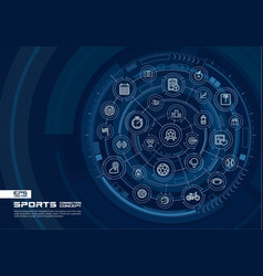 abstract sport and fitness background digital vector image
