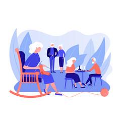 Activities for seniors concept vector