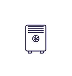 Air conditioner mobile ac line icon vector