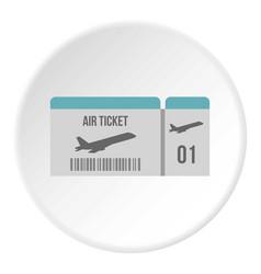Air ticket icon circle vector