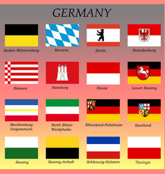 All flags german states vector