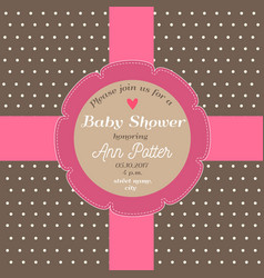 bashower invitation card with chocolate vector image