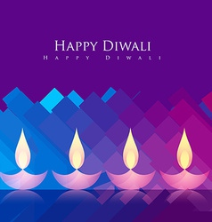 beautiful diwali background vector image