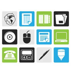Black Business and Office tools icons vector