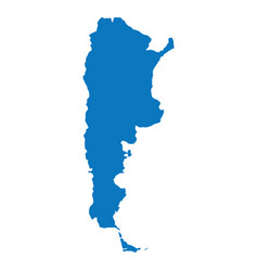 blank blue similar argentina map isolated on white vector image