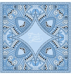 Blue colour decorative pattern of ukrainian ethnic vector