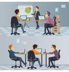 Business teamwork composition vector