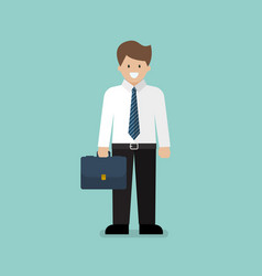 businessman character cartoon vector image