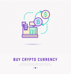 buy cryptocurrency concept vector image