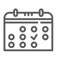 Calendar line icon month and date reminder sign vector