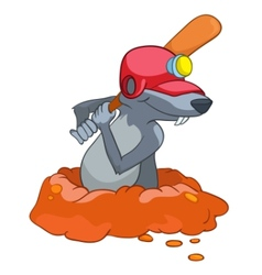 Cartoon character mole vector