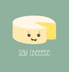 cartoon cheese poster vector image