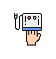Ccfl manicure lamp uv led nail dryer flat color vector