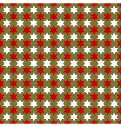 Christmas seamless wrapping paper with stars vector image
