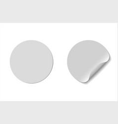 circle blank glue stickers design vector image