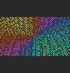 circles lines pattern bright gradient broken vector image