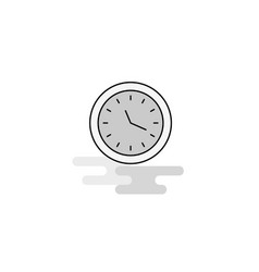 clock web icon flat line filled gray icon vector image