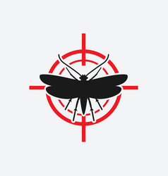 Clothes moth icon red target vector