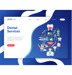 dental services infographics vector image