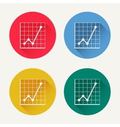 diagram icon set vector image