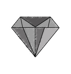 diamond gem icon vector image