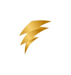 elegant and unique golden bolt template vector image