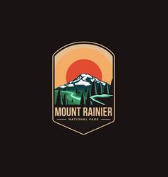 Emblem patch logo mount rainier national park vector