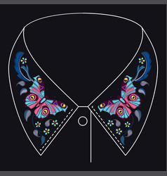 Embroidery pattern for design vector