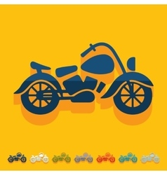 Flat design motorcycle vector image