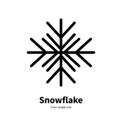 flat icon black silhouette winter snowflake vector image