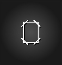 frame icon flat vector image