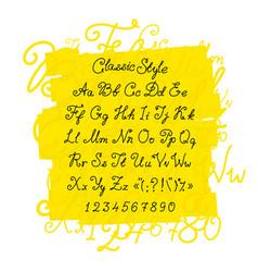 full set handwritten font capital letters vector image